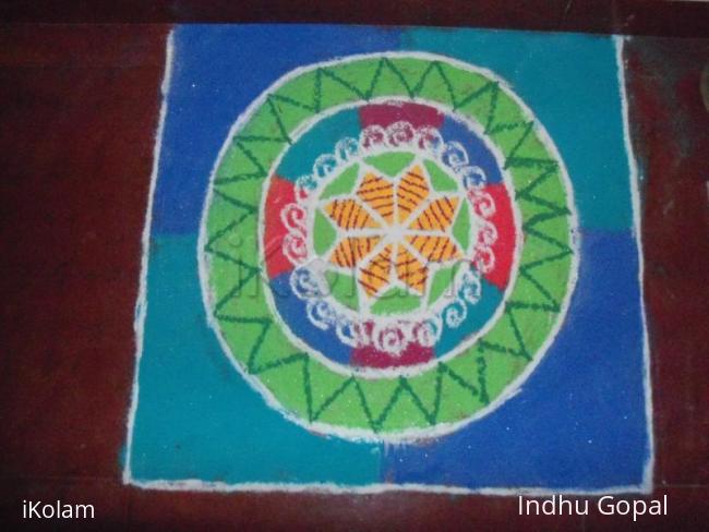 Rangoli: Navarathri rangoli 1