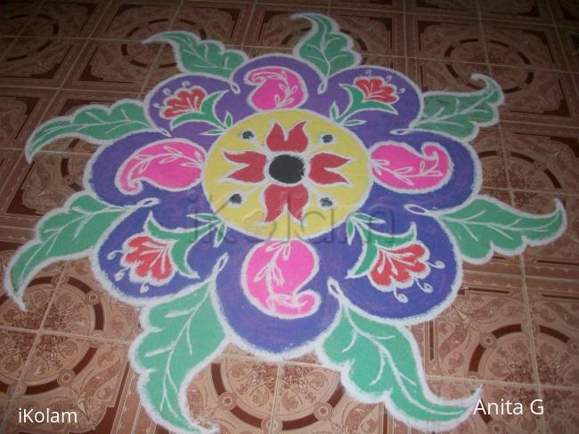 Rangoli: flower rongoli