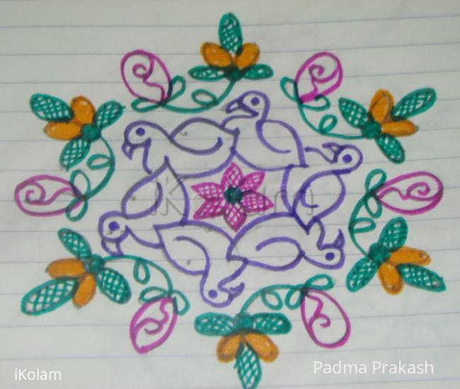 Rangoli: Bird & Flowers
