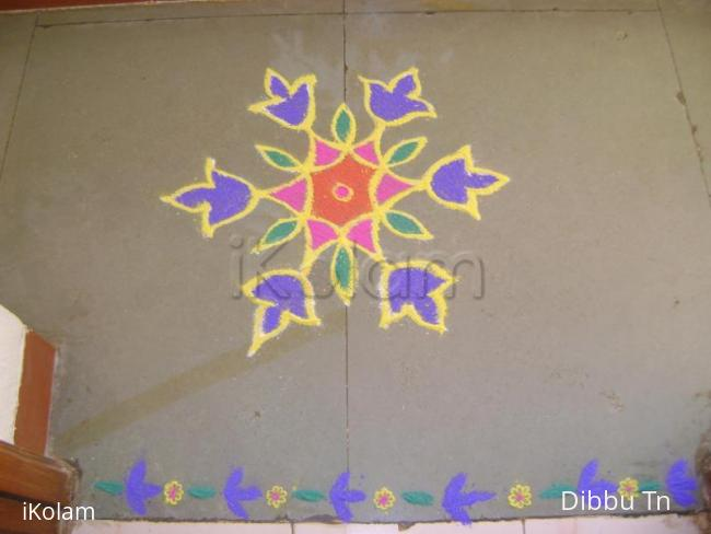 Rangoli: Bluebells Kolam