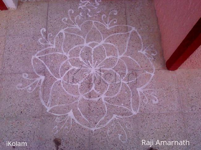 Rangoli: Varalakshmi Mavu Kolam