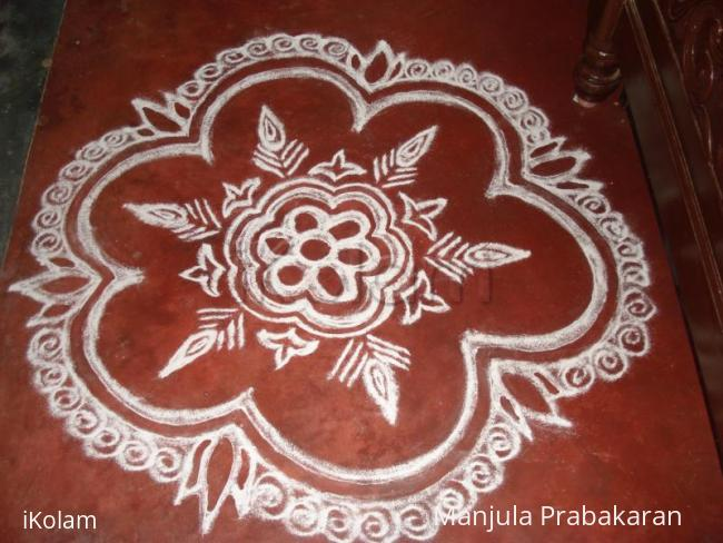 Rangoli: flower rangoli with some more designs