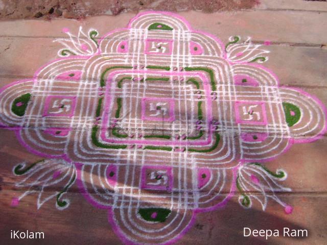 Rangoli: Fusion Linga kolam