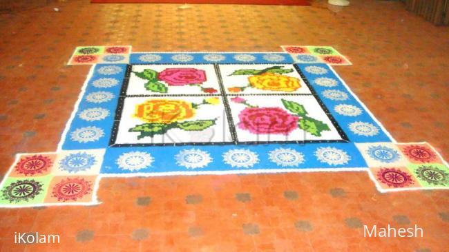 Rangoli: my special 10*10 size kumil kolam