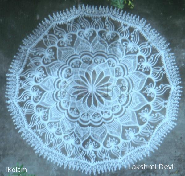 Rangoli:  fusion lace doily