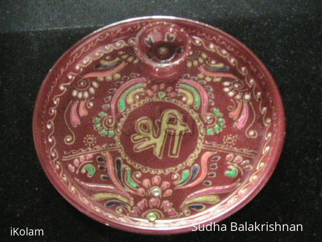 Rangoli: Arathi plate
