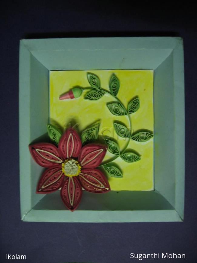 Rangoli: Quilled flower