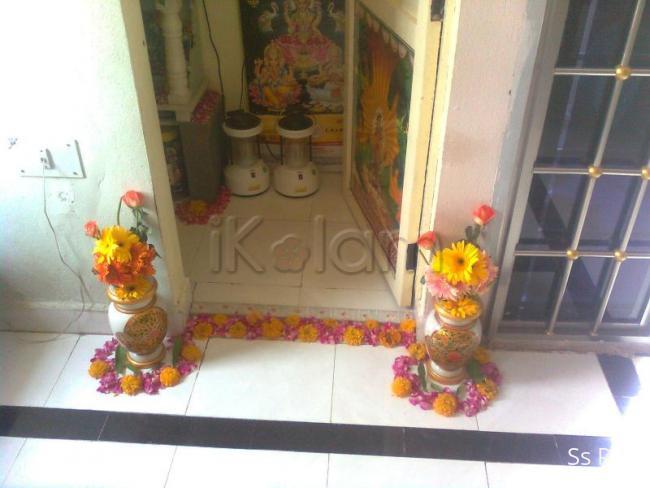 Rangoli: Small floral design