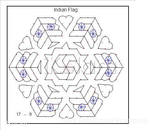 Rangoli: National Flag