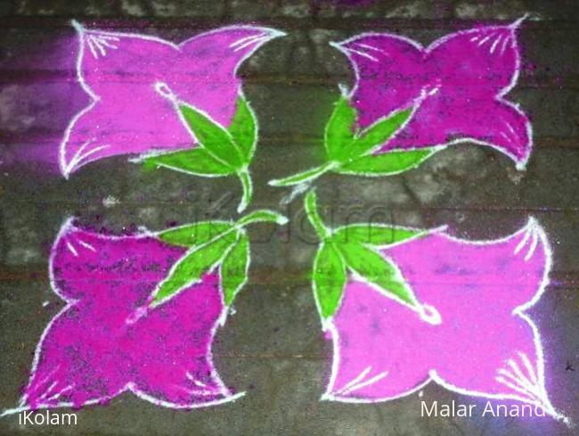 Rangoli: Pink Flowers