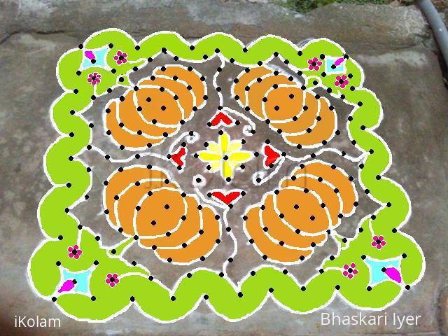 Rangoli: super pumpkins!! in technicolor