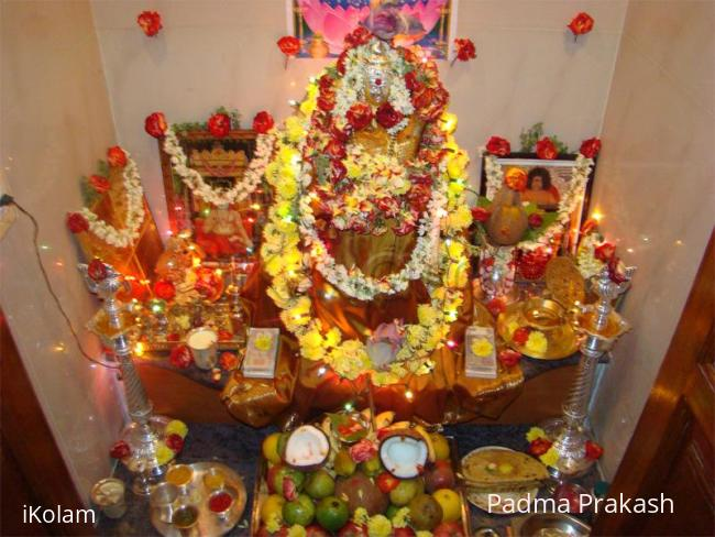 Rangoli: Varamahalakshmi Devi