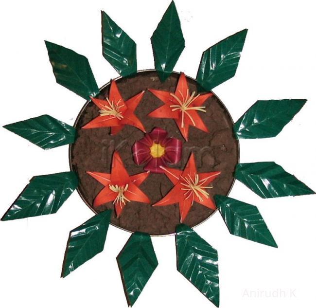 Rangoli: here comes bloomed Amaryllis