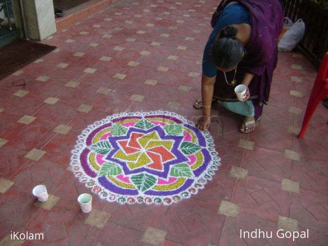 Rangoli: marriage rangoli