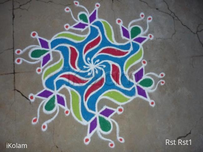 Rangoli: Tear drop rangoli