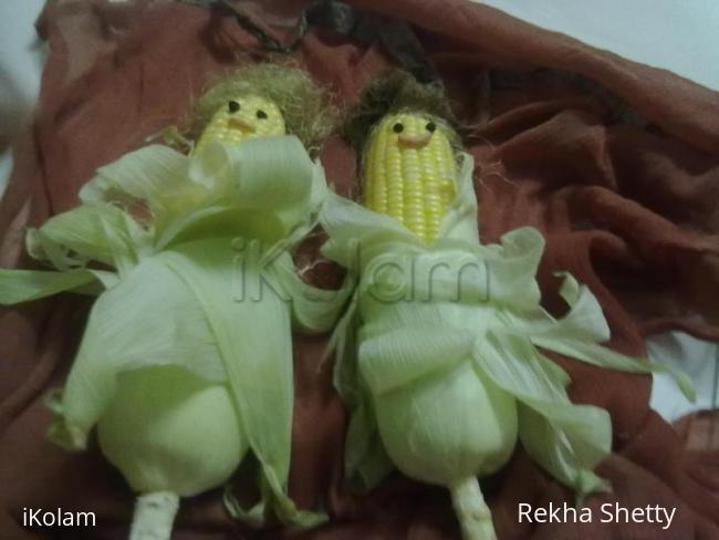 Rangoli: Corn Beauties(models)