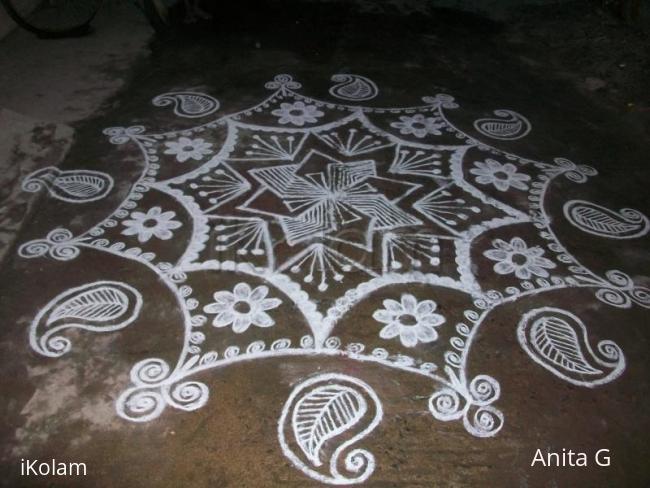 Rangoli: my new year kolam