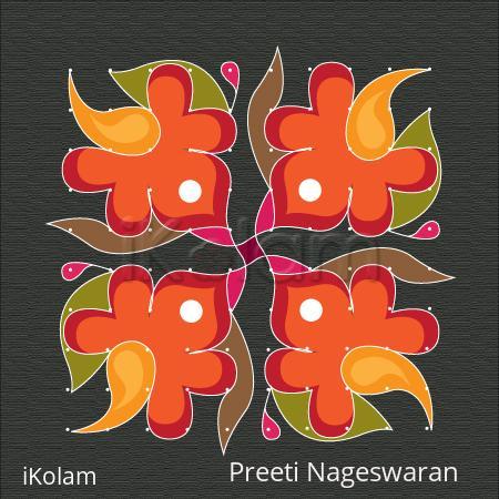 Rangoli: 10 by 10 Kolam