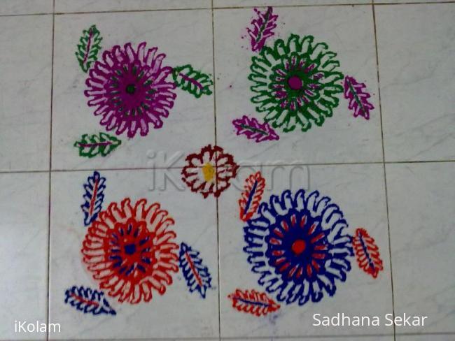 Rangoli: chakra stroke rangoli