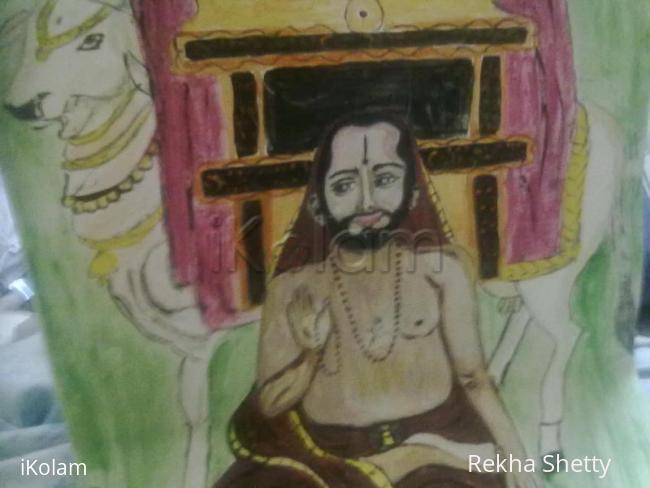 Rangoli: My young Ragavendra swami (full view)