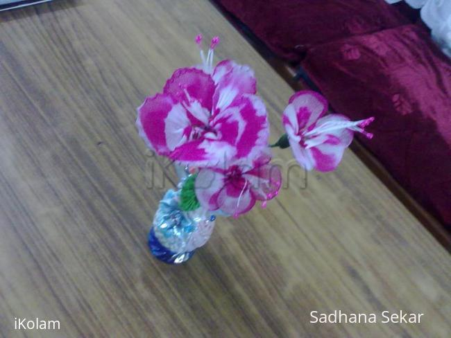 Rangoli: My first stocking flowers