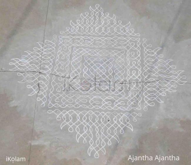 Rangoli: dot pattern for my chikku kolam