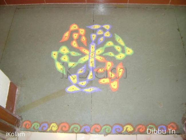 Rangoli: Eighth Day of Navrathri Kolam