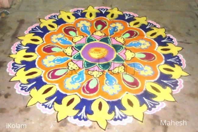 Rangoli: my thiruvathirai kolam