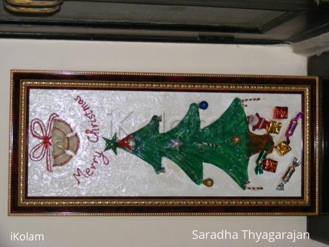 Rangoli: Christmas tree