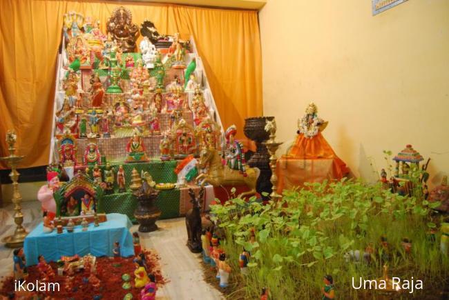 Rangoli: Umaraja Golu.