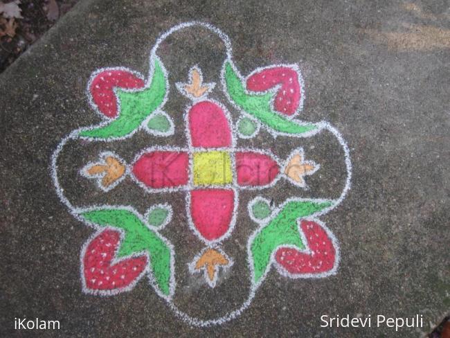 Rangoli: Strawberry Rangoli