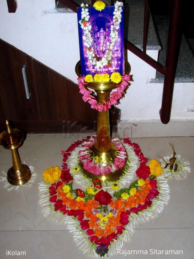 Rangoli: Flower decoration