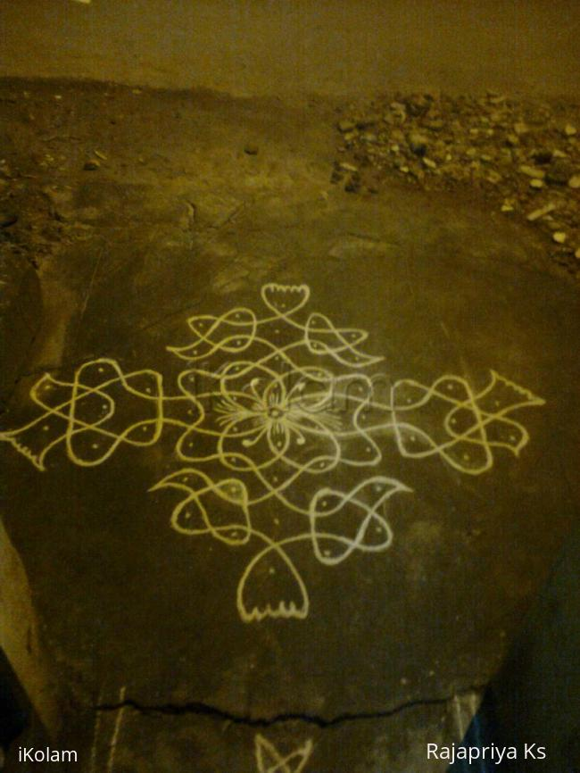 Rangoli: For Margazhi dew drops kolam contest 2011