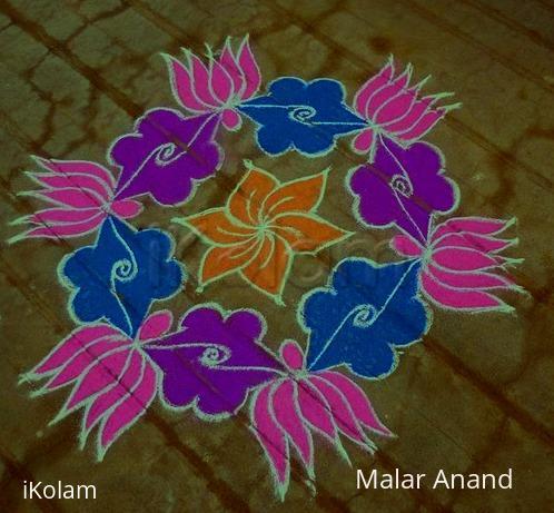 Rangoli: Dotted Lotus kolam