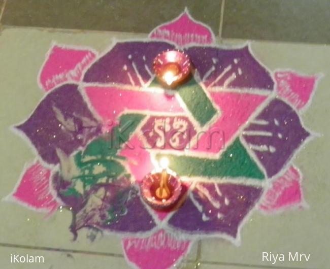 Rangoli: Laxmi pooja rangoli