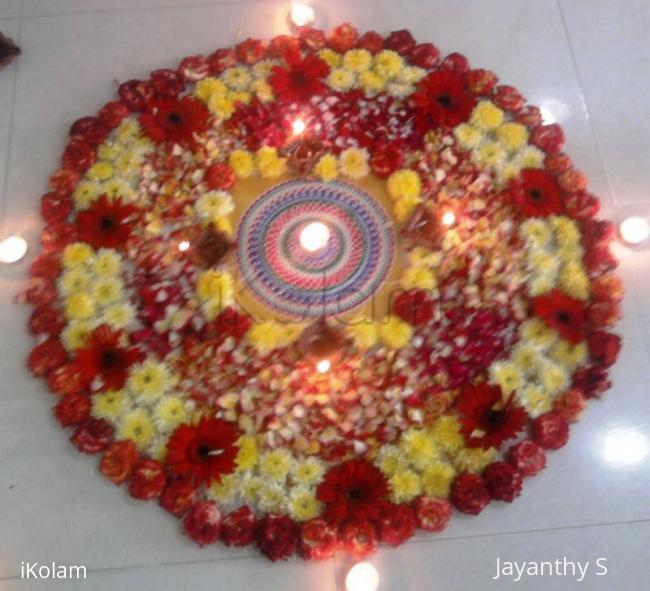 Rangoli: flower kolam for Diwali contest