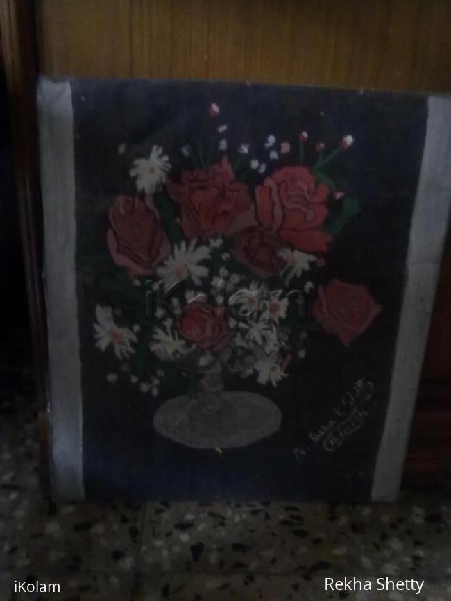Rangoli: Painting of flower pot