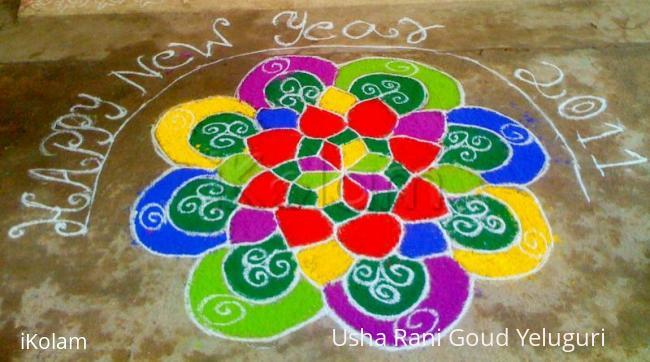 Rangoli: New year rangoli - 2011
