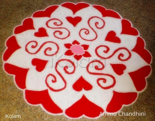 Rangoli: VALENTINE DAY SPL KOLAM