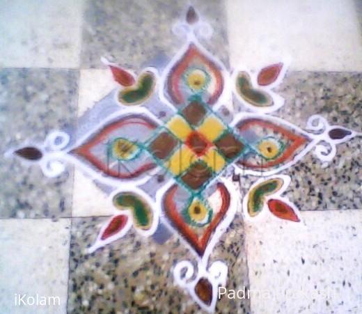 Rangoli: Wet-Mavu-Kolam-6