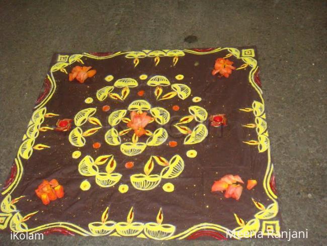 Rangoli: Rangoli display for Diwali in dublin
