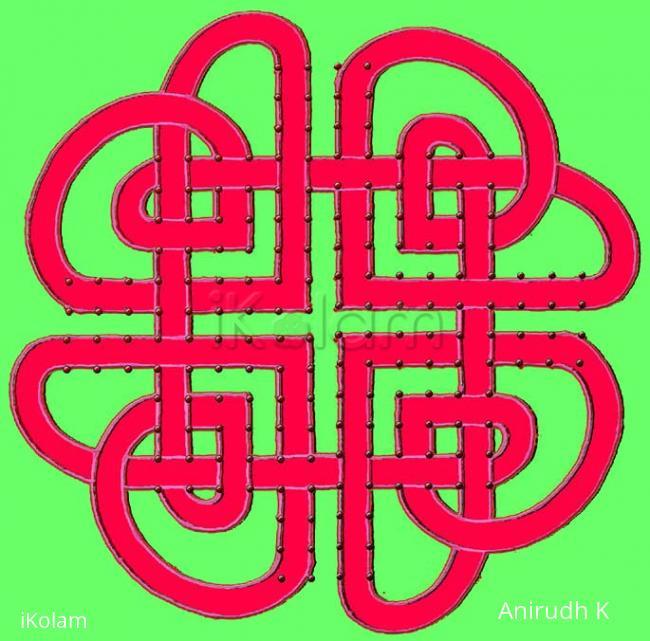 Rangoli: Celtic Hearts knot