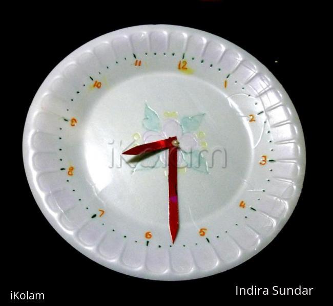 Rangoli: Clock
