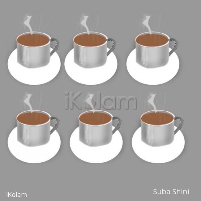 Rangoli: coffee cups