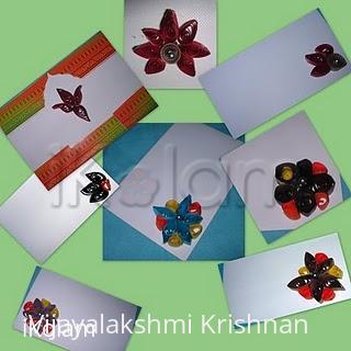 Rangoli: quilling envelops (q.kolam)