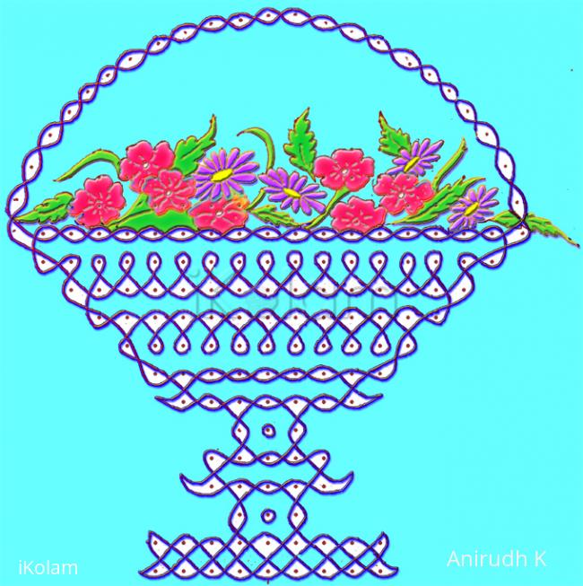 Rangoli: Thank you flowers