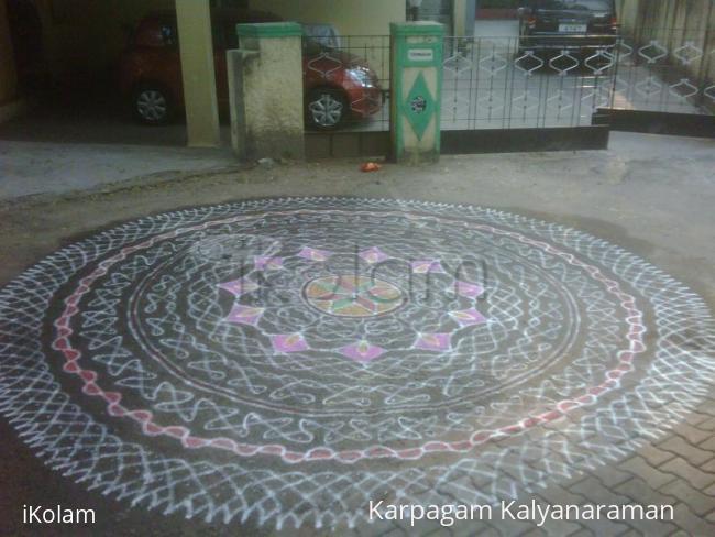 Rangoli: Margazhi  Dew Drops Rangoli Contest-entry
