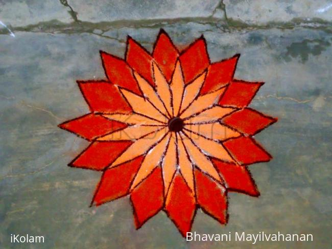 Rangoli: apartment margazhi
