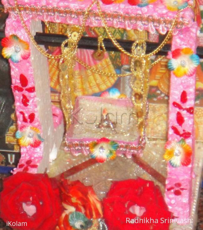 Rangoli: Cradle for Lord Krishna