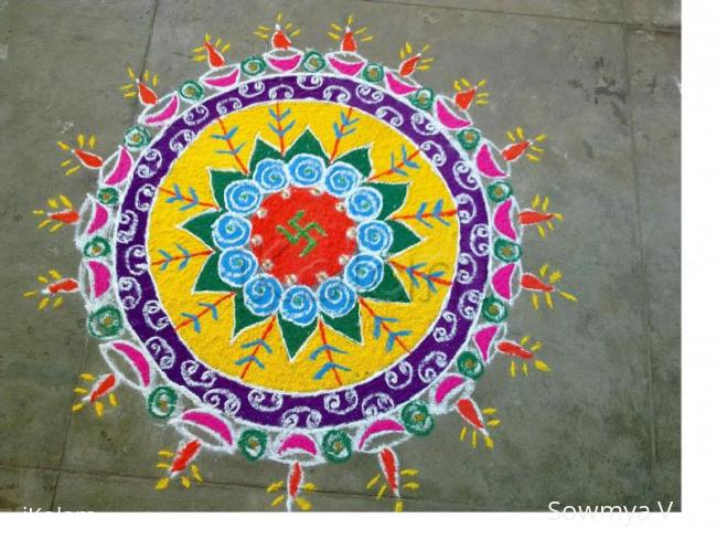 Rangoli: Rangoli for diwali competition 2010
